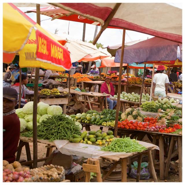 """""""Antananarivo Market"""" stock image"""