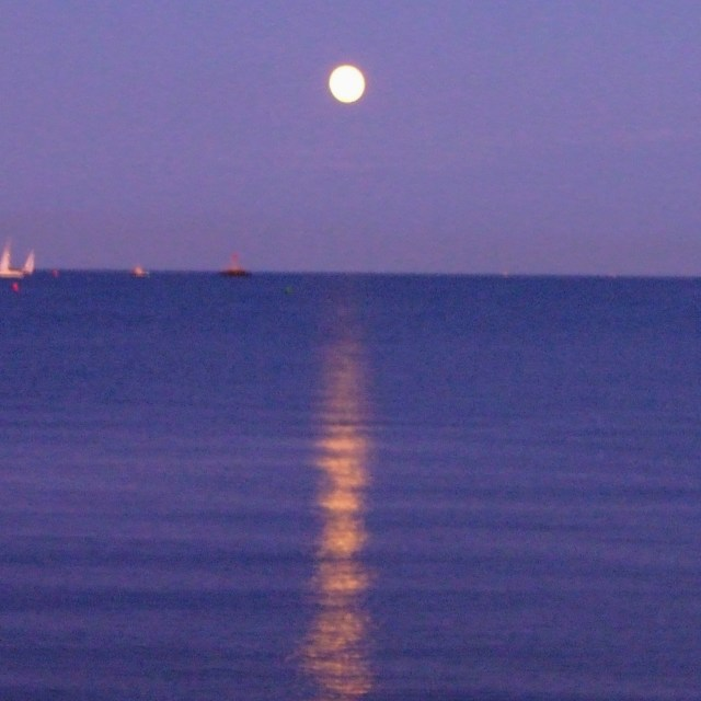 """""""Moon over Water"""" stock image"""
