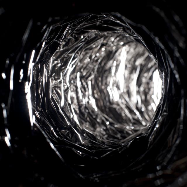 """metallic tunnel"" stock image"