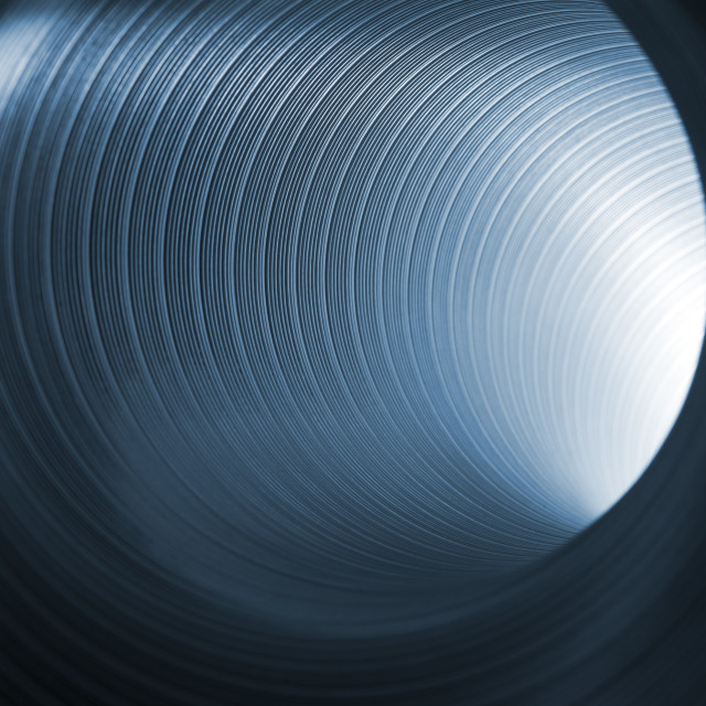"""""""blue tunnel glow"""" stock image"""
