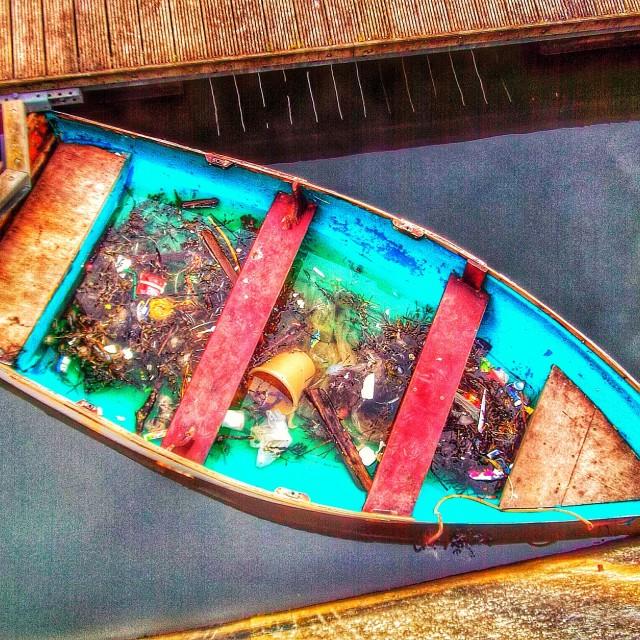 """Turquoise boat"" stock image"