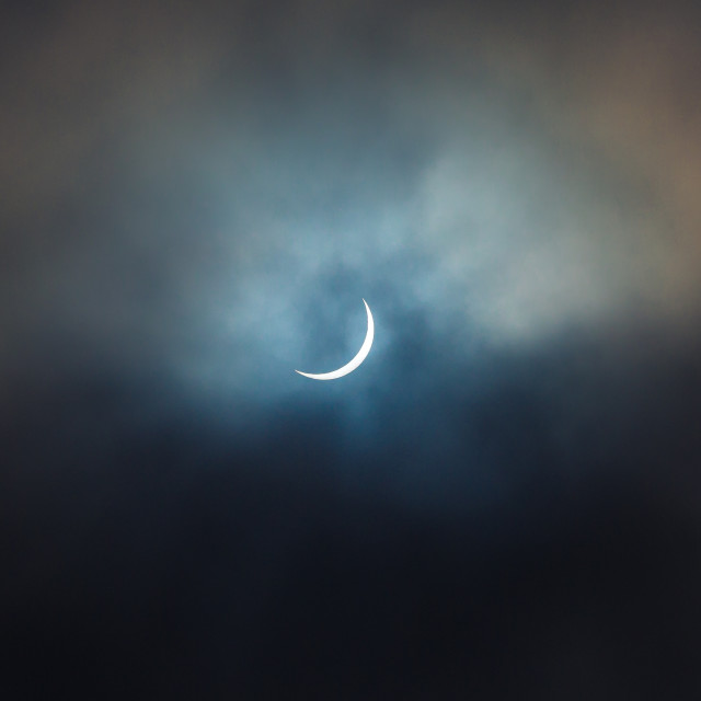 """Partial Solar Eclipse"" stock image"