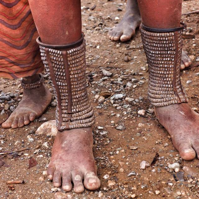 """himba toes"" stock image"