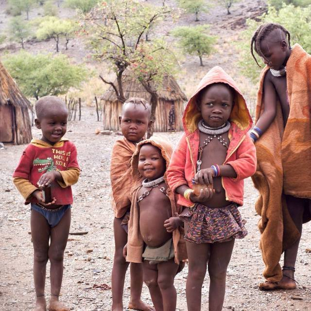 """himba kids"" stock image"