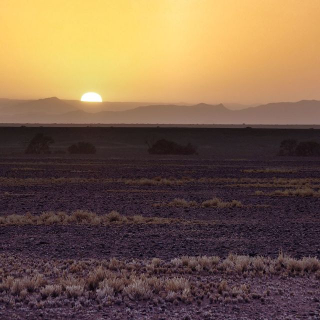 """sunrise in namibia"" stock image"