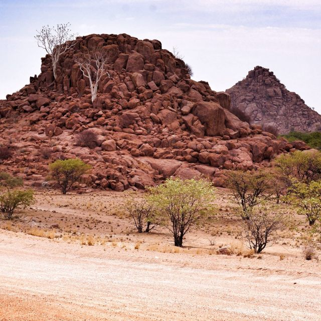 """gravel road to Twyfelfontein"" stock image"