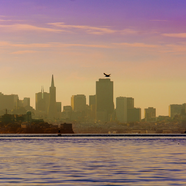 """Alcatraz and San Francisco City"" stock image"