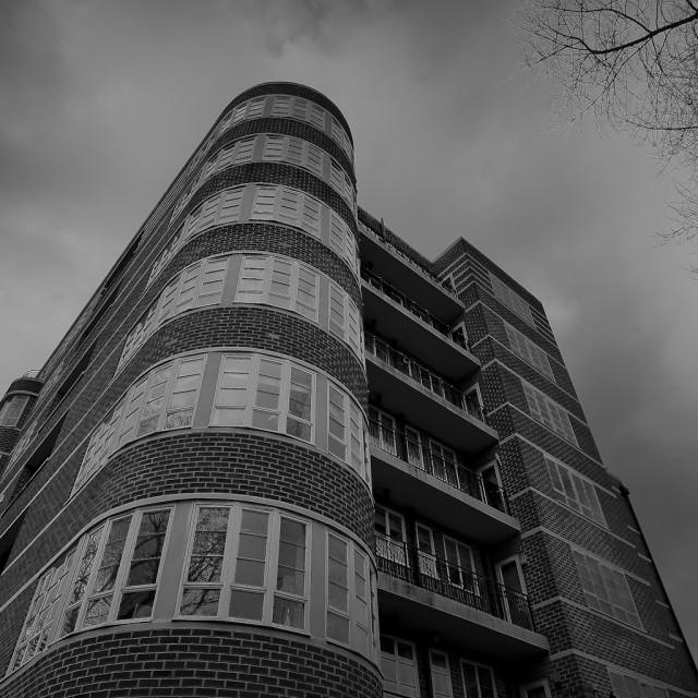 """Art Deco building, Newcastle Upon Tyne, England."" stock image"