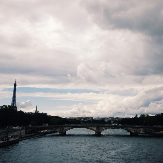 """""""Cloudy Paris"""" stock image"""