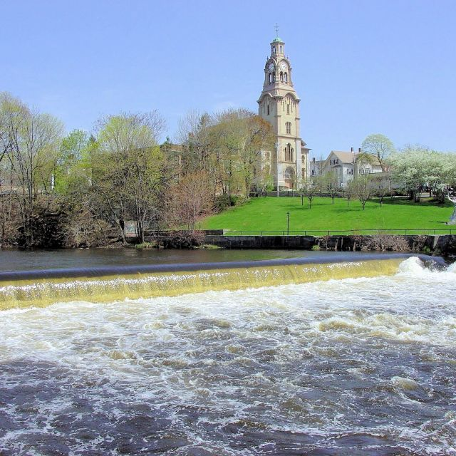 """Dam on the Blackstone River, Pawtucket, Rhode Island"" stock image"