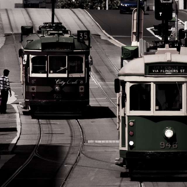 """Melbourne Trams"" stock image"