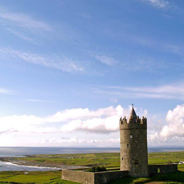 """Doonagore Castle 2"" stock image"