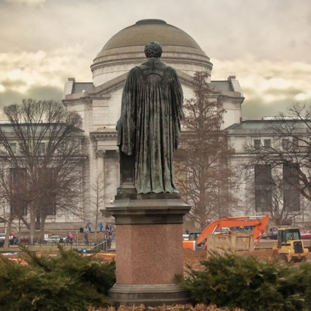 """Joseph Henry statue, Washington, DC"" stock image"