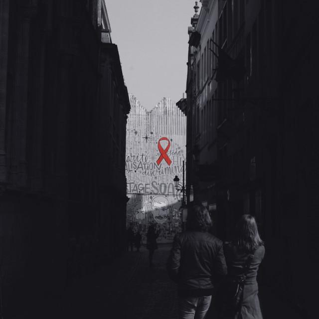 """""""AWARENESS. (Brussels, Belgium)"""" stock image"""