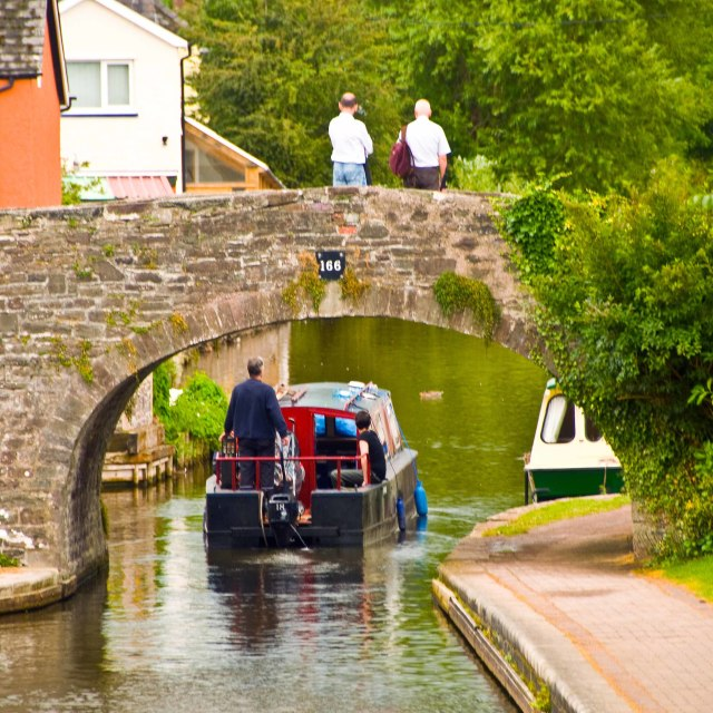 """Monmouth and Brecon Canal"" stock image"