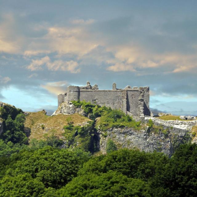 """Careg Cenne castle"" stock image"