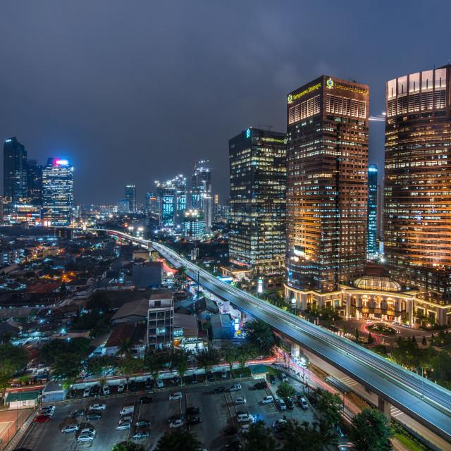 """Jakarta fast track"" stock image"