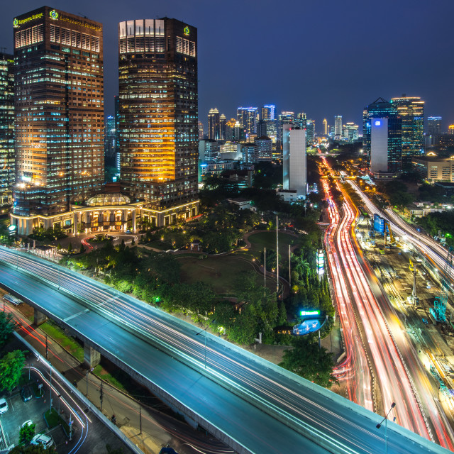 """Jakarta intersection"" stock image"
