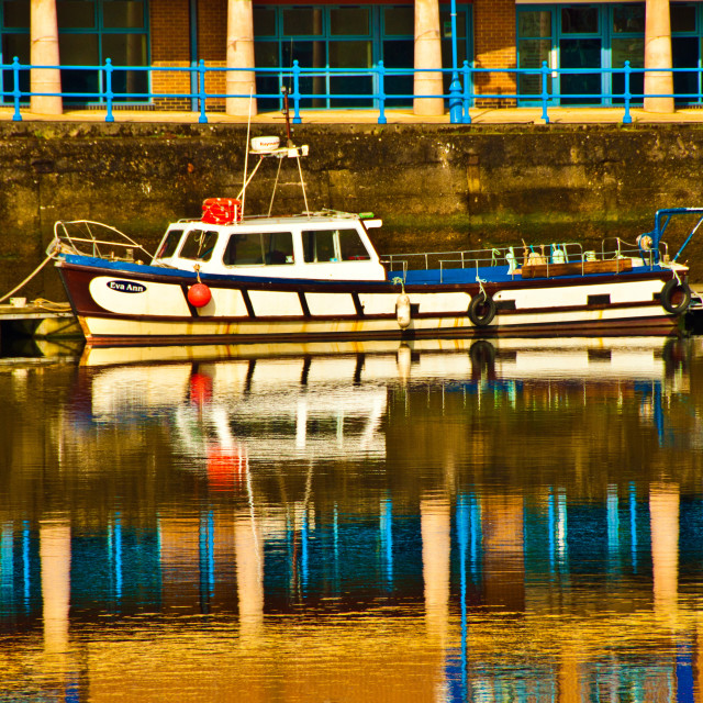 """The Eva Ann moored at Milford Haven marina"" stock image"