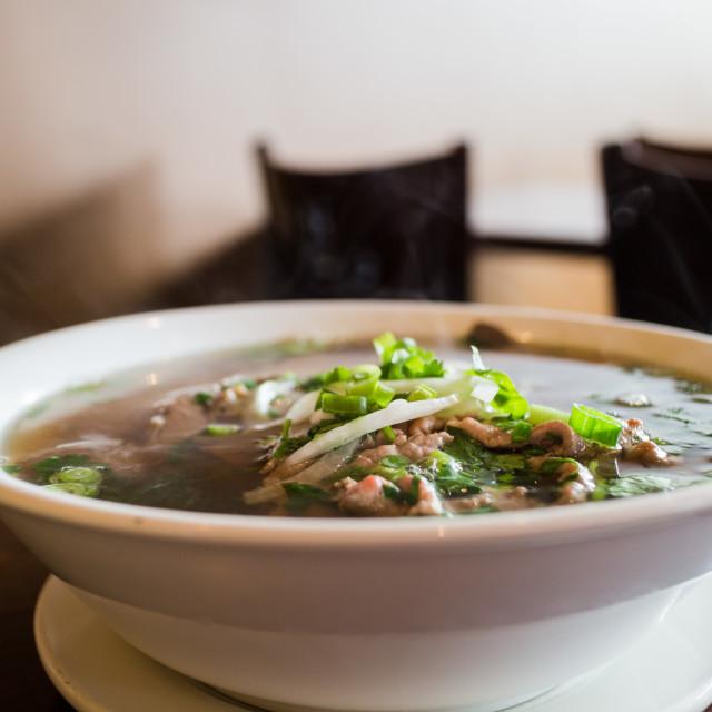 """vietnamese beef noodle soup"" stock image"
