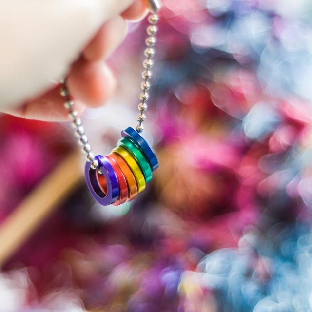 """Rainbow Rings"" stock image"