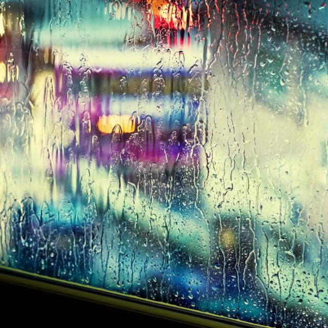 """""""Rainy Window"""" stock image"""