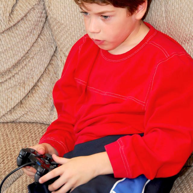 """Boy video game"" stock image"