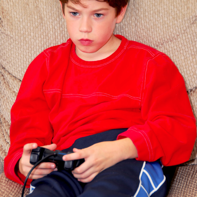"""Boy video game"" stock image"
