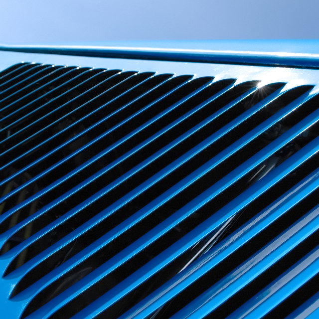 """blue grille"" stock image"