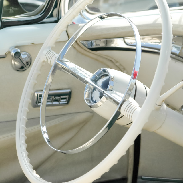"""white steering wheel"" stock image"
