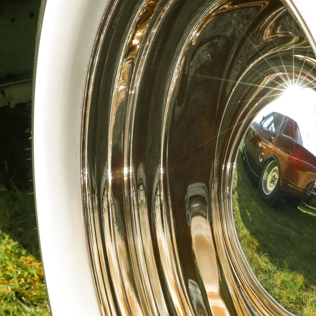 """wheel hub reflection"" stock image"