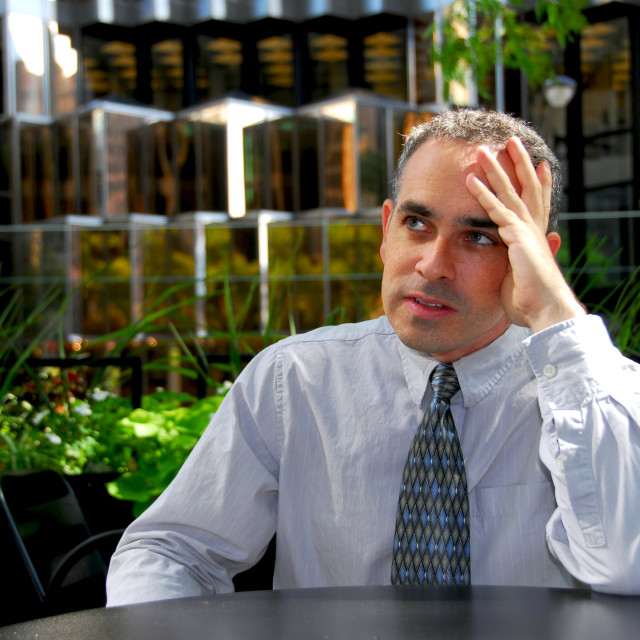 """""""Businessman frustrated"""" stock image"""