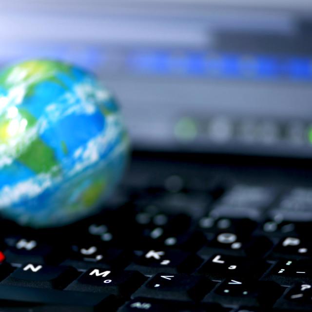 """Internet computer business global"" stock image"