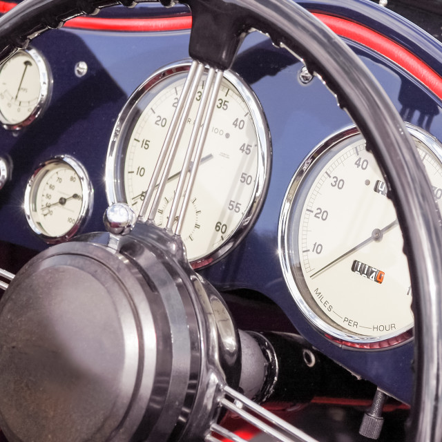 """vintage dashboard dials"" stock image"
