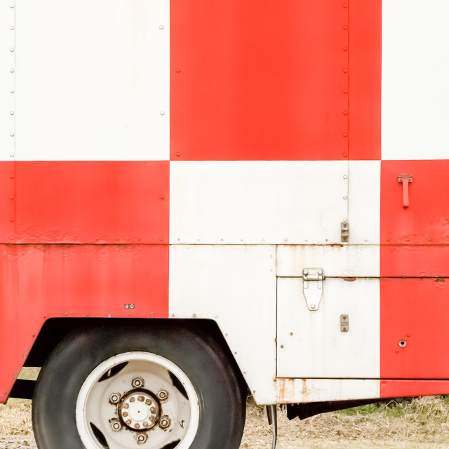 """checkered truck"" stock image"