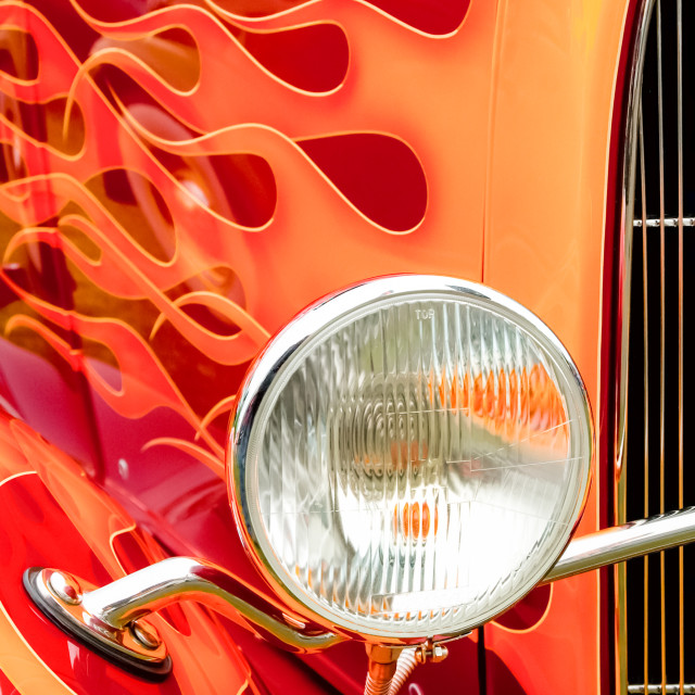 """flaming hotrod"" stock image"