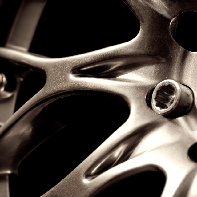 """chromed wheel hub"" stock image"
