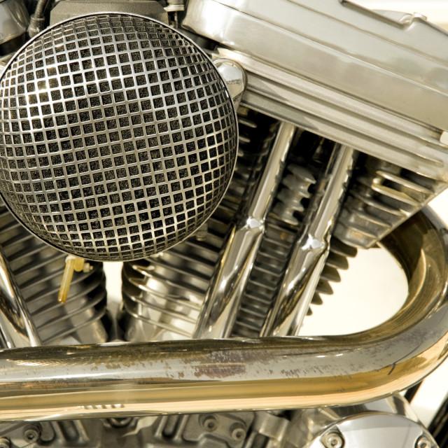 """motorcycle engine"" stock image"