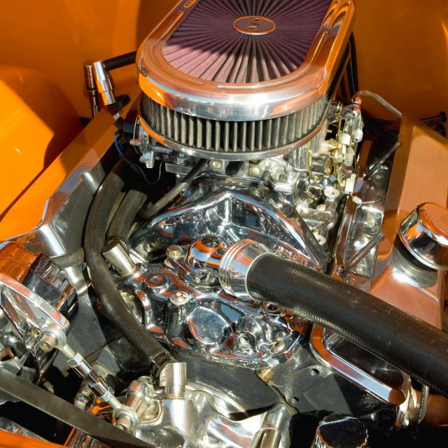"""""""chromed engine"""" stock image"""