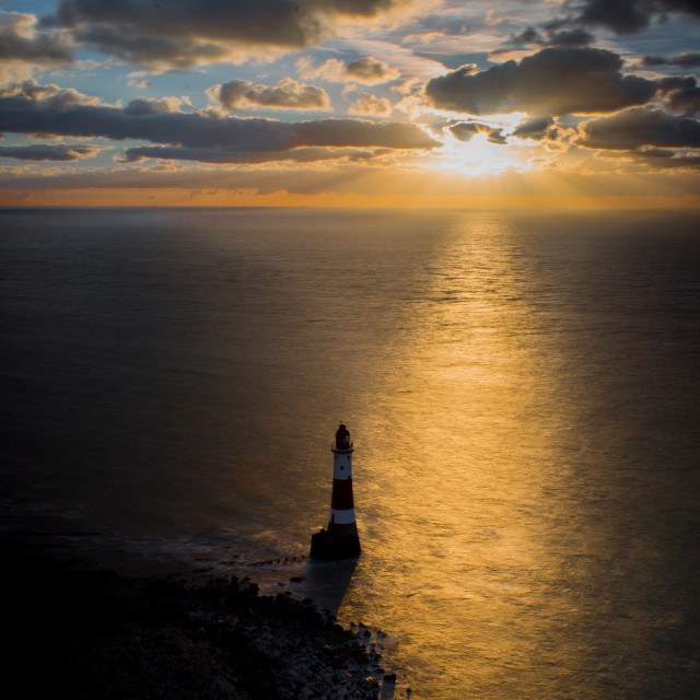 """Beachy Head, Eastbourne"" stock image"
