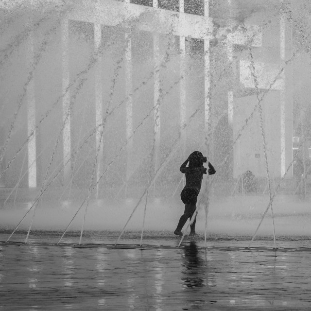"""""""Child in Fountains"""" stock image"""