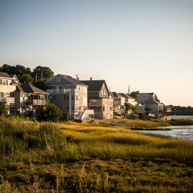 """New England Homes"" stock image"