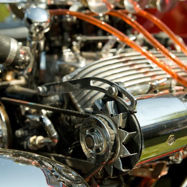 """""""hot-rod engine"""" stock image"""