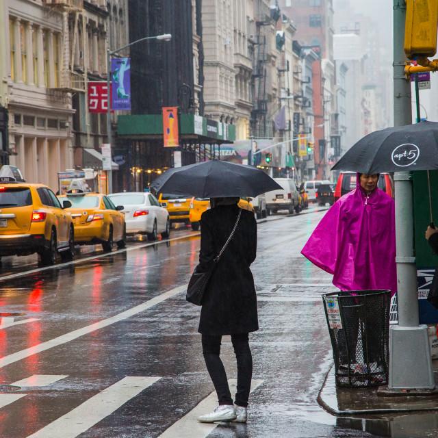 """Soho, New York"" stock image"