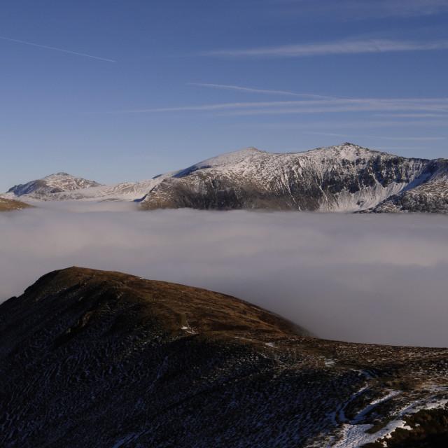 """Snowdon from Mynydd Mawr"" stock image"