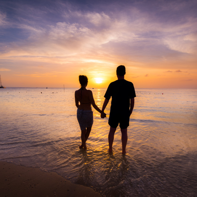 """Lovers Beach"" stock image"