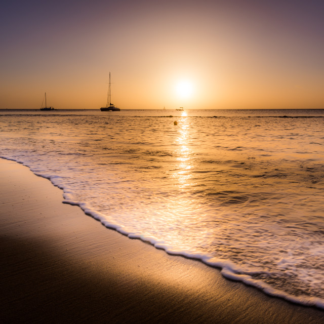 """Sunset Beach"" stock image"