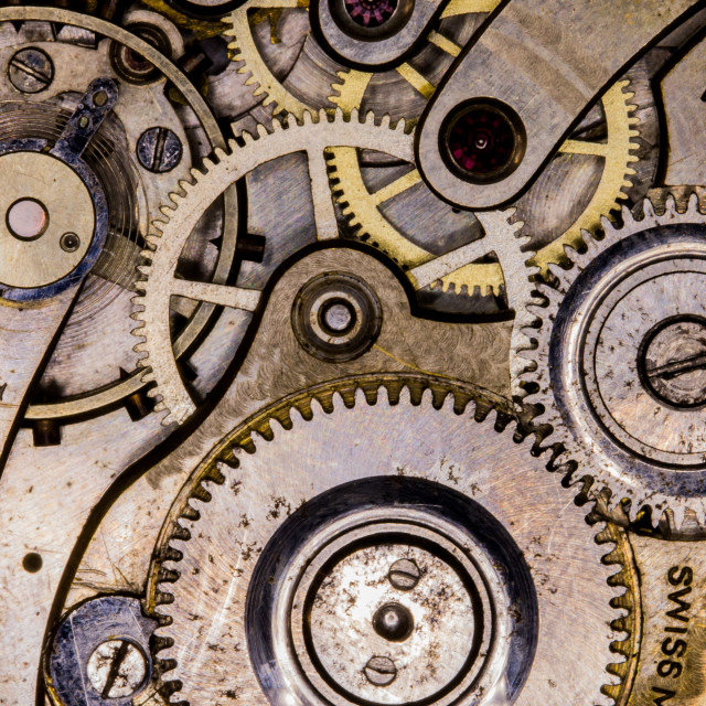 """""""Inside of a pocket watch"""" stock image"""