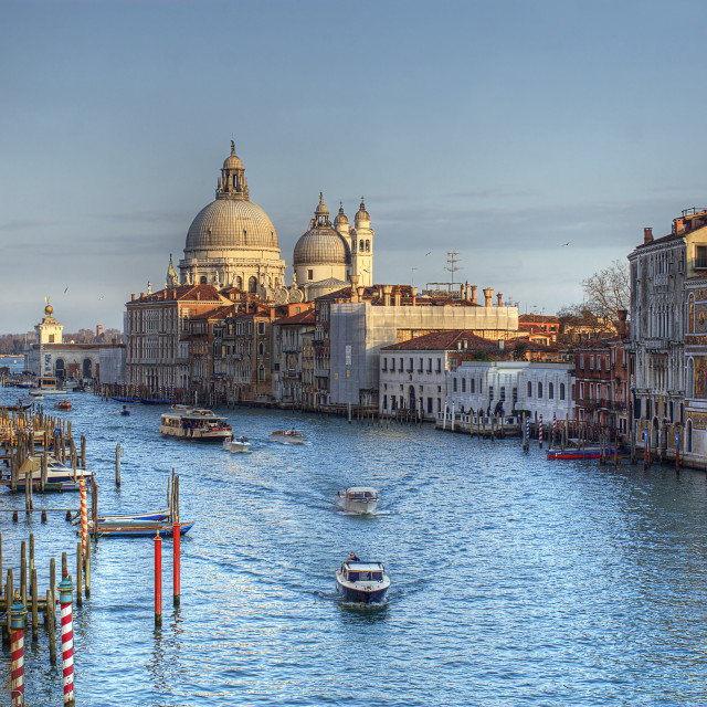 """View on the Grand Canal in Venice"" stock image"