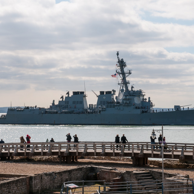"""USS Winston S Churchill"" stock image"